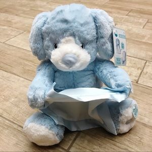 Interactive Blue Peek-A-Boo Puppy Baby Toy